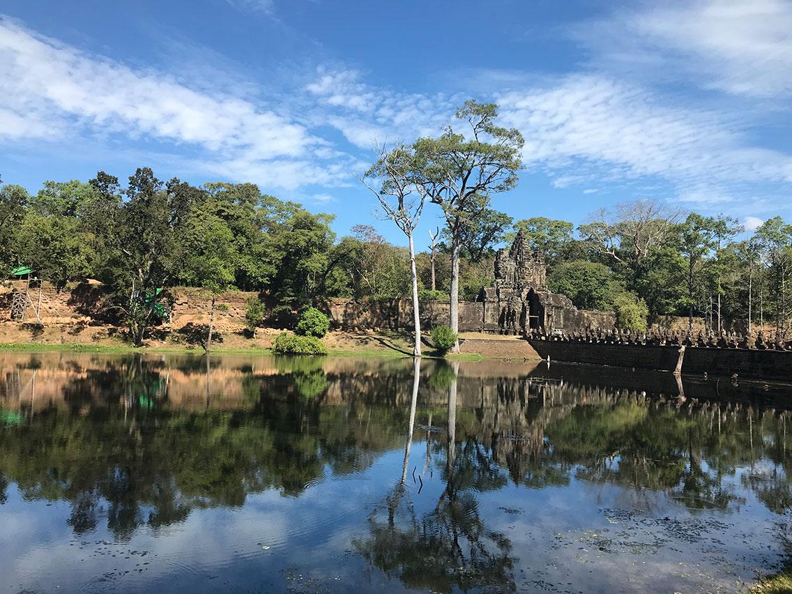 Angkor Thom Temple entrance, Near Siem Reap, Cambodia.