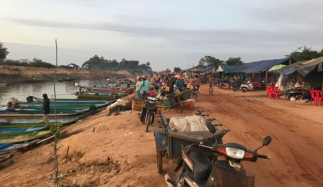 Village where we boarded a boat to get to Prek Toal, Tonle Sap Lake, Cambodia.