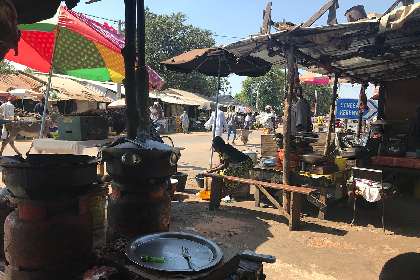 Farafenni town, Farafenni, The Gambia.