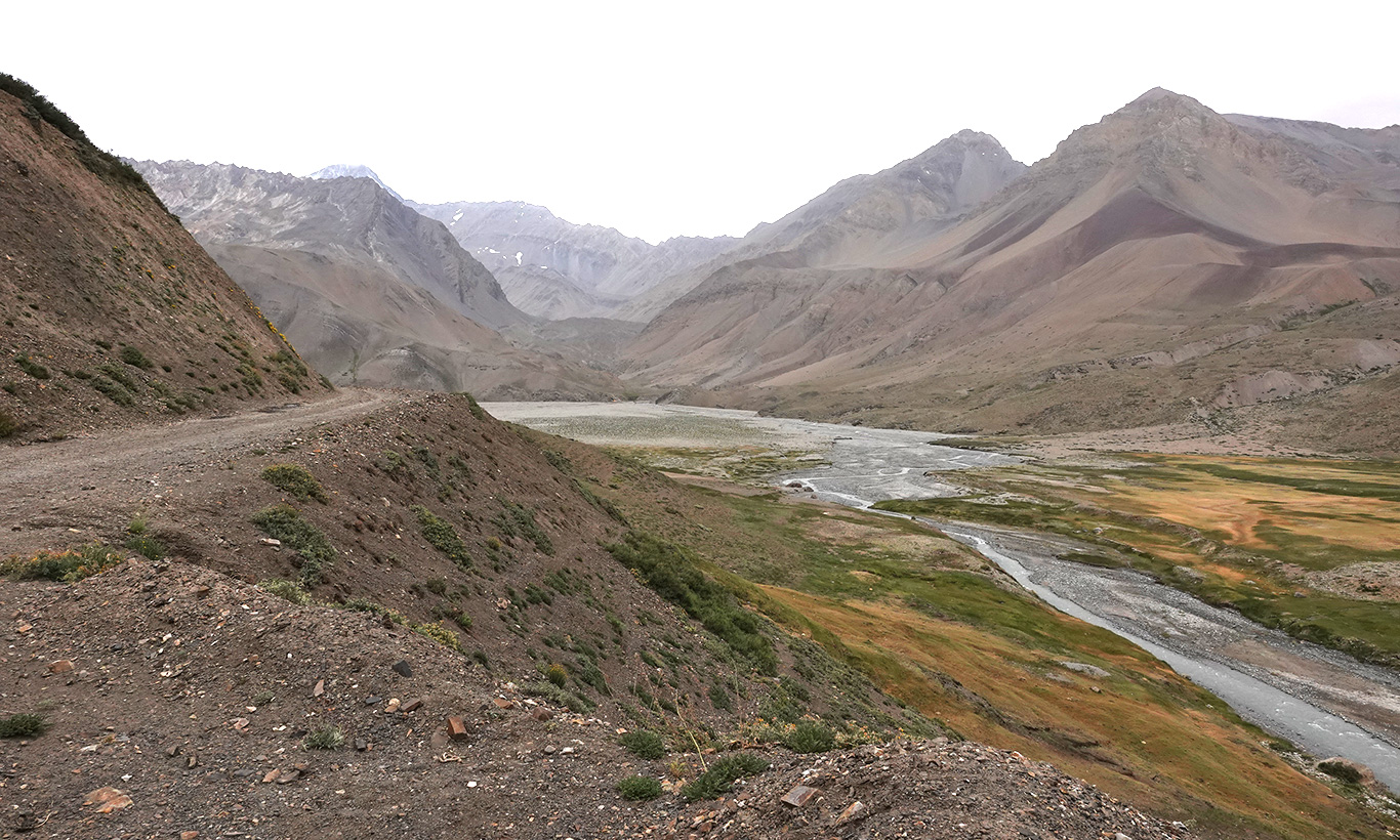 View of Valle del Yeso, Valle del Yeso, Chile.