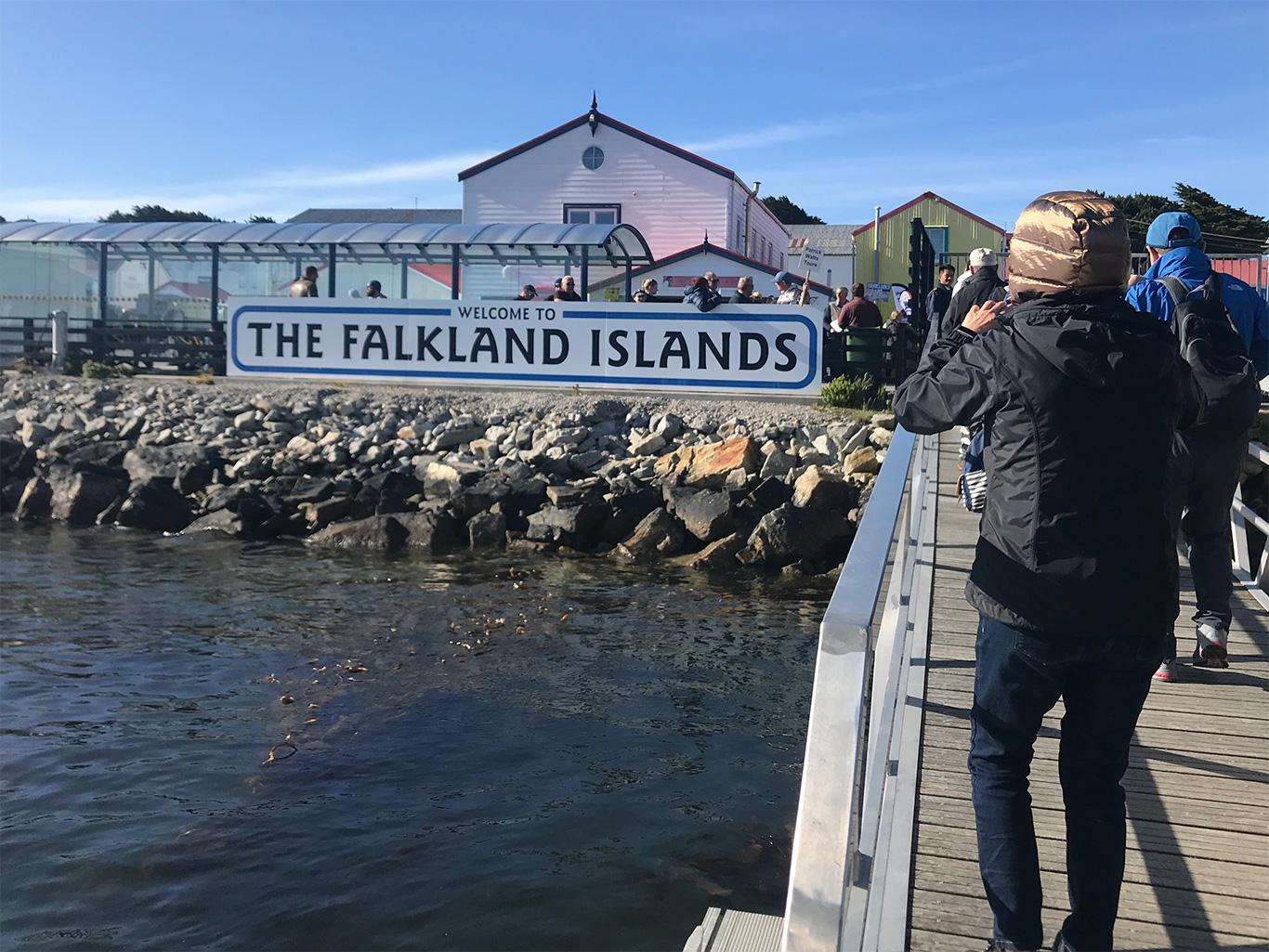 Welcome to Falklands, Port Stanley, Falkland Islands.