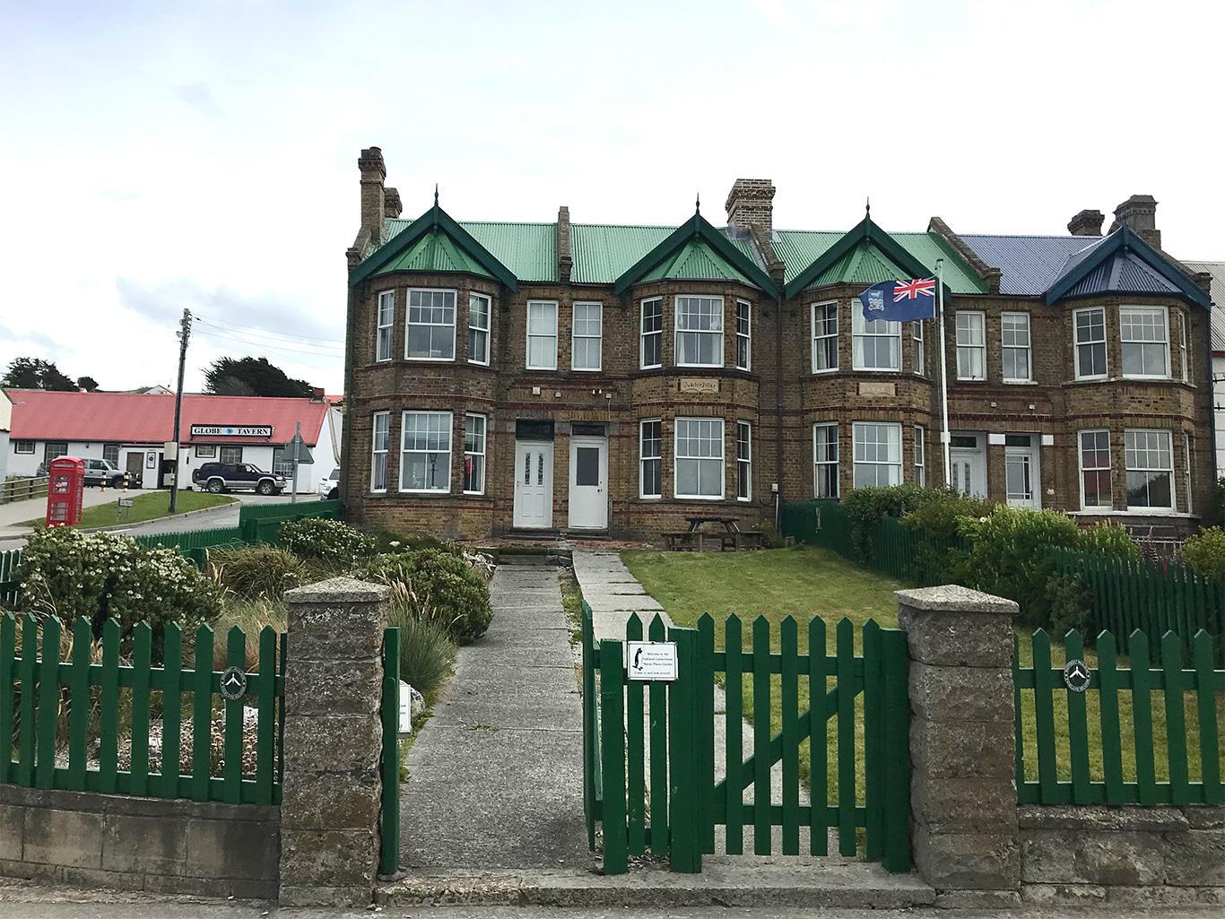 Port Stanley houses, Port Stanley, Falkland Islands.