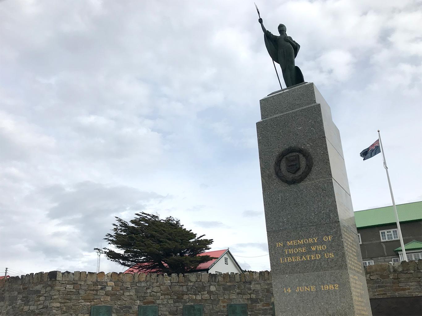 War Monument, Port Stanley, Falkland Islands.